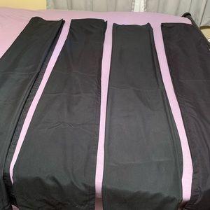 Set of 4 Black Curtain Panels